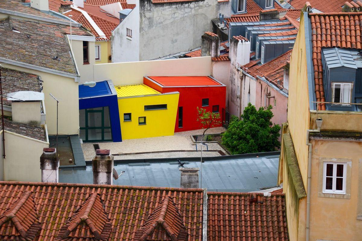 Les trois petites cases Mondrian