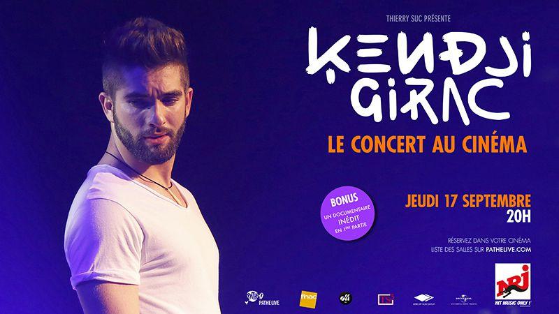 Kendji Girac au cinéma, son concert diffusé le 17 septembre !