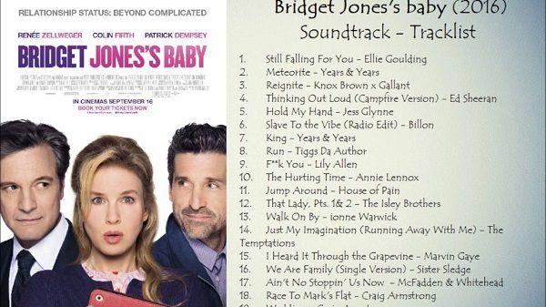 La bande originale des nouvelles aventures de Bridget Jones est disponible !