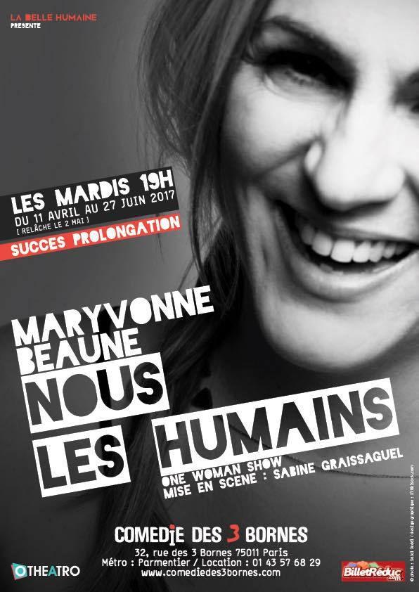 Maryvonne Beaune dans « Nous Les Humains » à la Comédie des 3 Bornes, nous y étions !