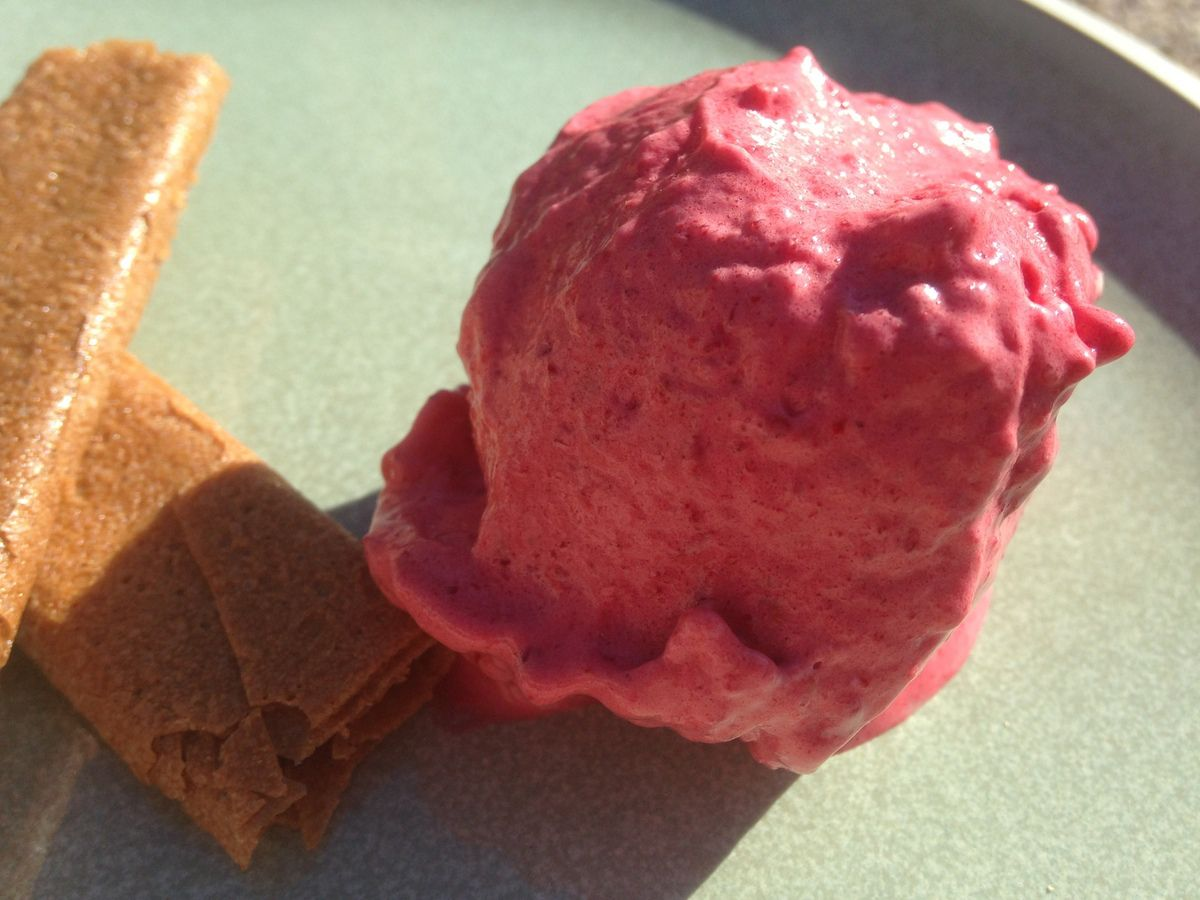 Sorbet framboise Thermomix