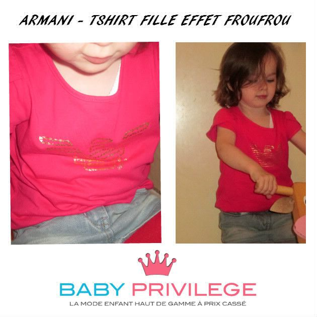 ARMANI - TSHIRT FILLE EFFET FROUFROU