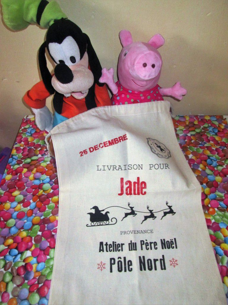 Voici les photos de la Hotte de Noël pour Jade