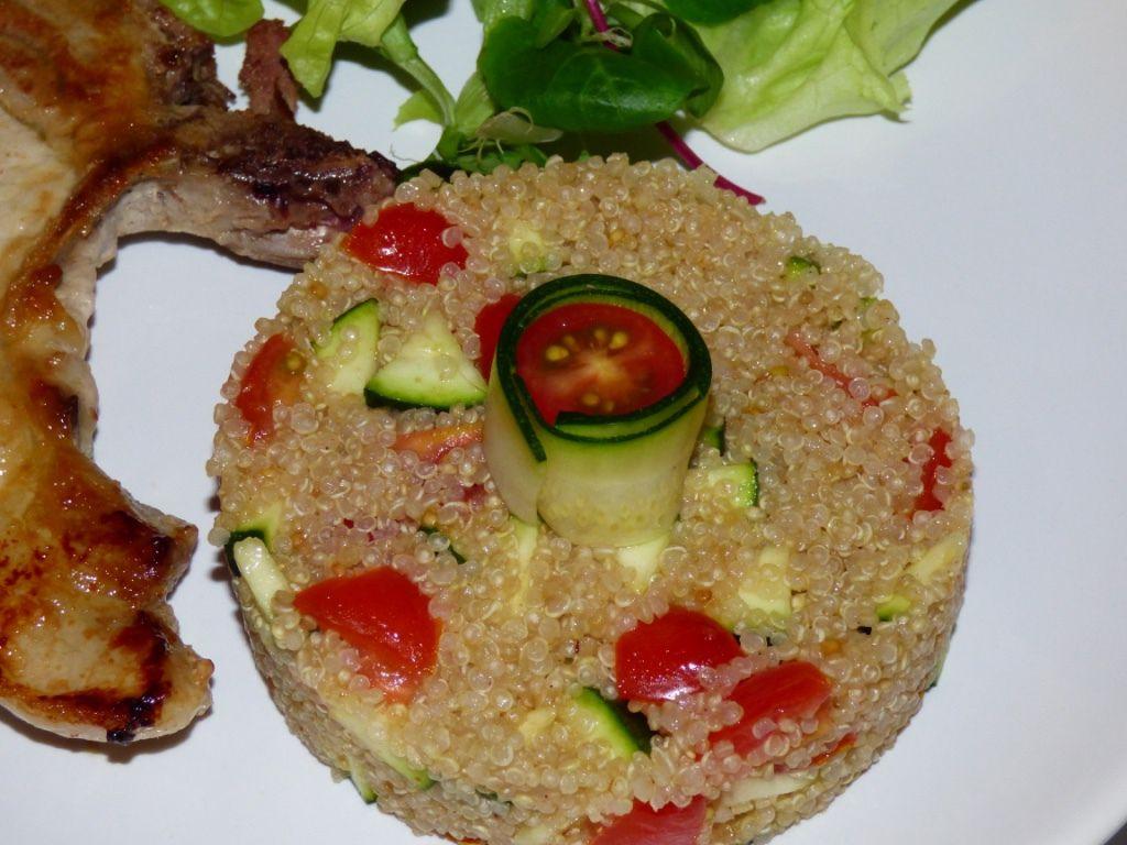 Repas d'un soir #5: Salade de quinoa aux 3 épices.