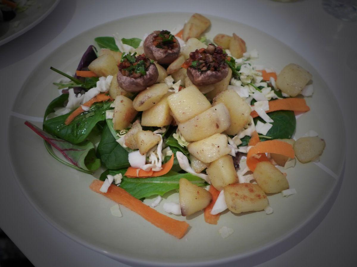 Repas d'un soir #8: Salade &quot&#x3B;les champignons prennent leur pied!&quot&#x3B;