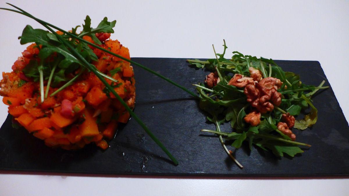 Le risotto et une petite salade aux noix!