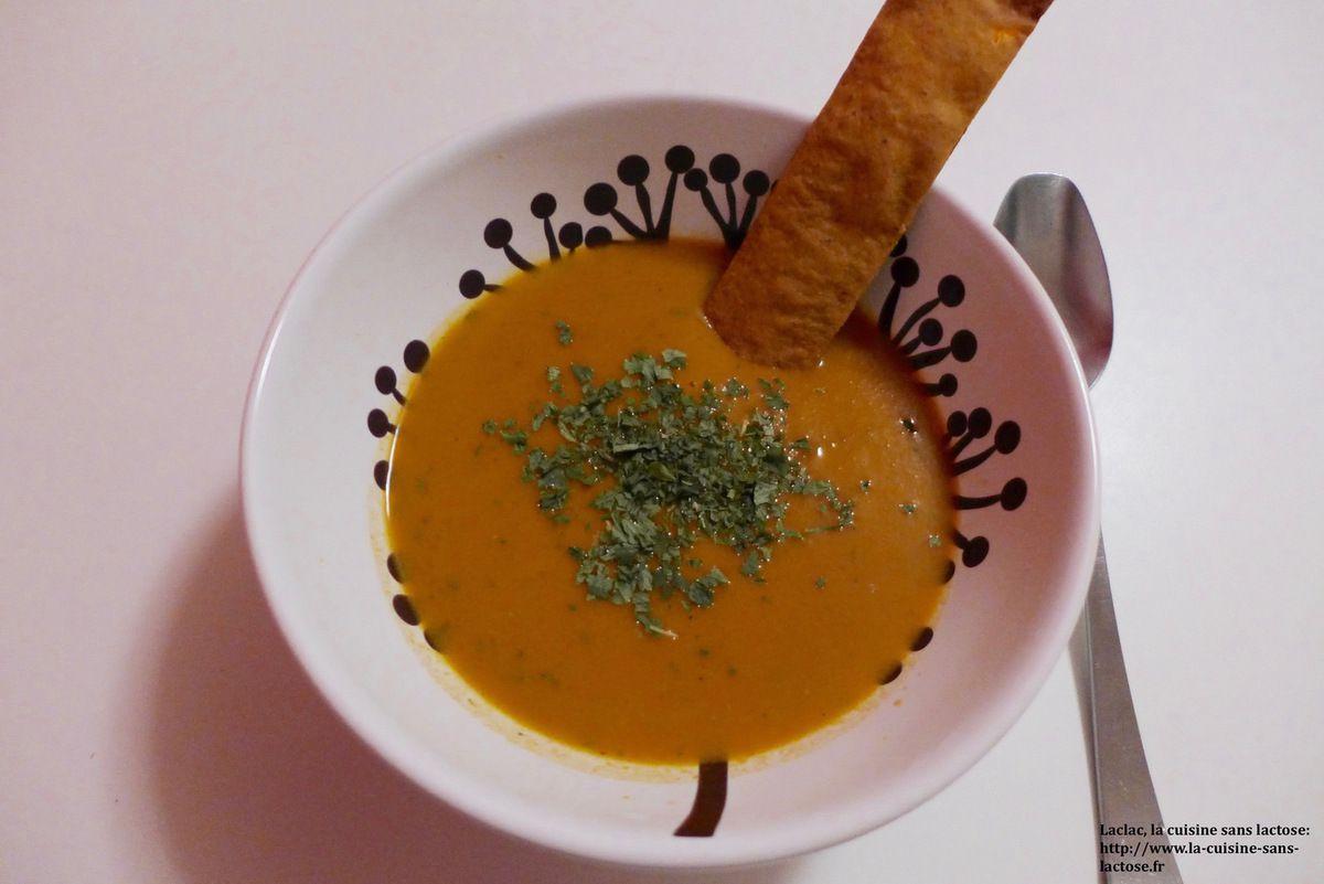 La tuile est tombée! Velouté de carottes 1.