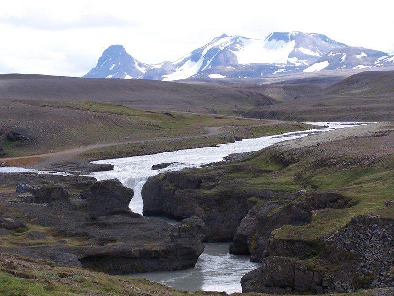 F35 entre Langjökull et Hofsjökull