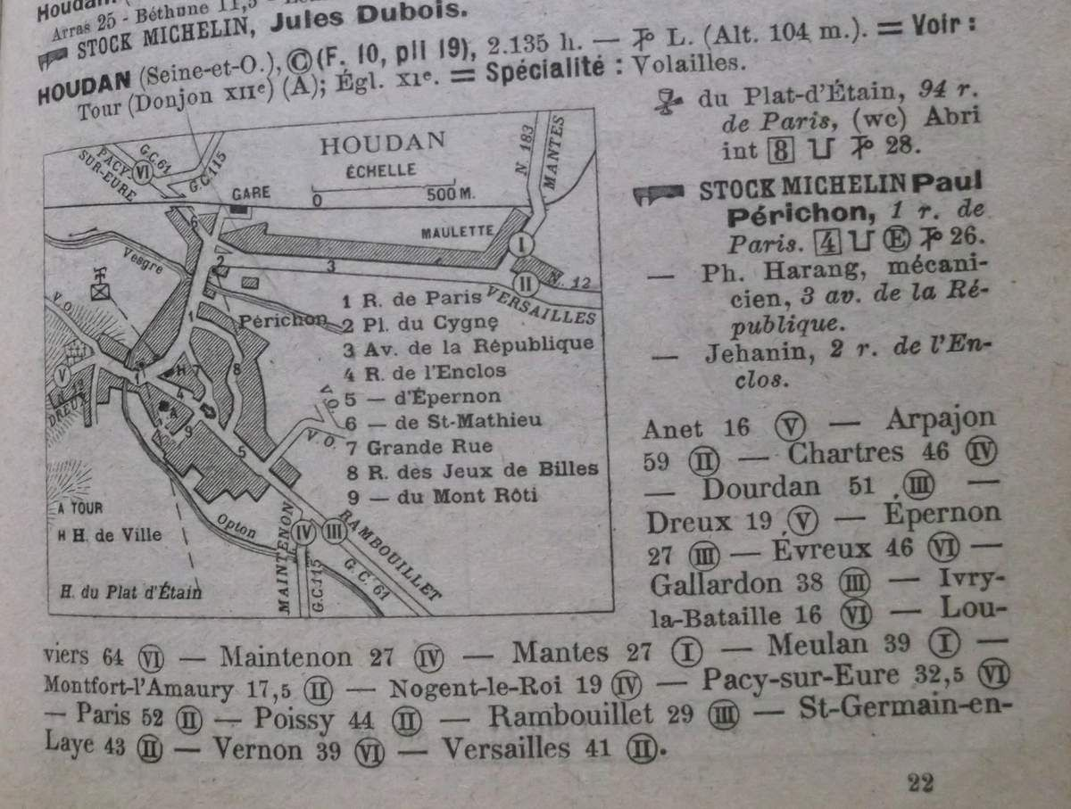 Houdan. Guide Michelin 1922.