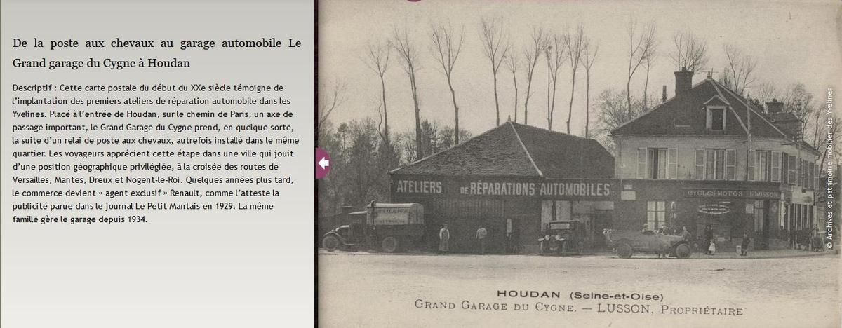 Houdan. Le Grand Garage du Cygne.