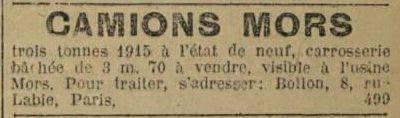 in La Dépêche de Brest du 28 avril 1918.