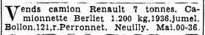 in Le Matin du 21 septembre 1940.