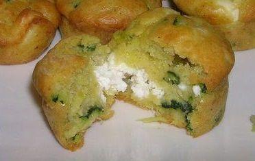 muffins chèvre - courgette