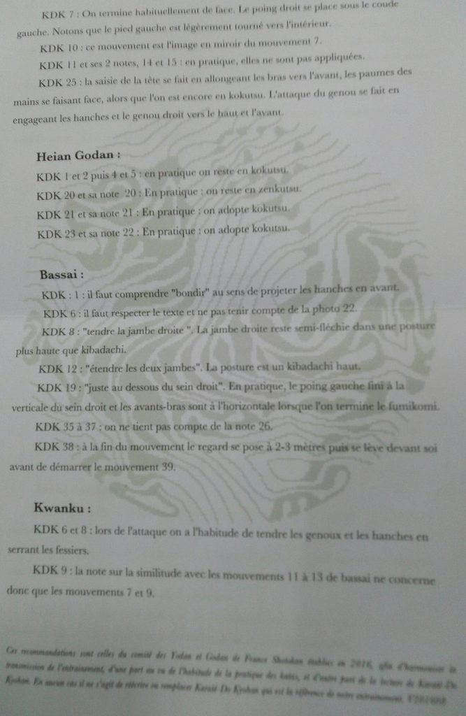 Recommandations France Shotokan