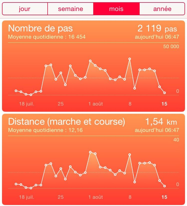 application iphone kilometre parcouru voiture