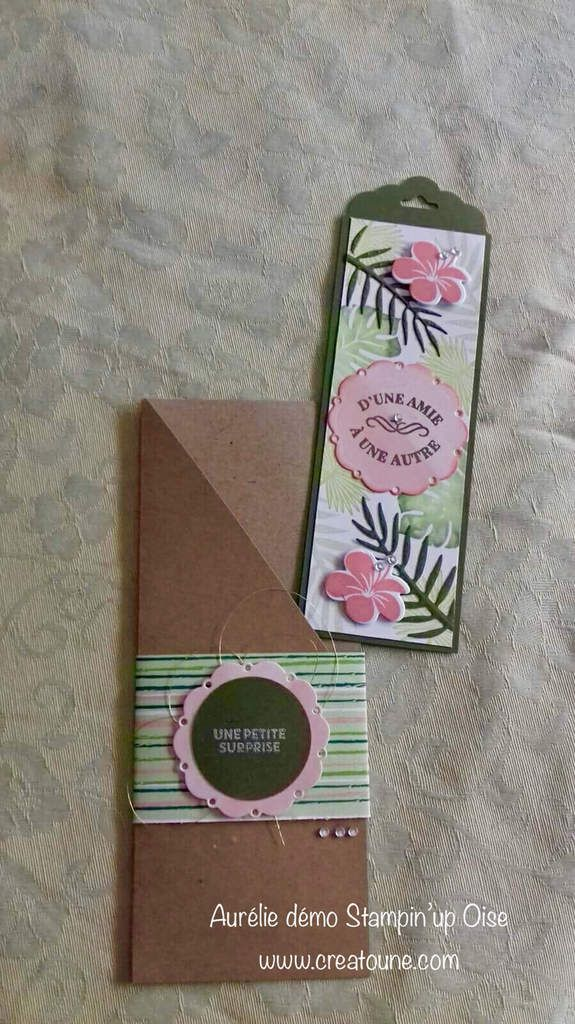 Marque page-chic tropical