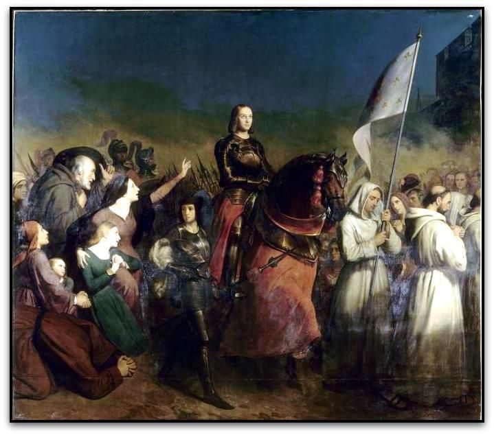 Henry_Scheffer Joan of Arc enters Orleans  May 8, 1429 (Hall of the battles, Versailles)