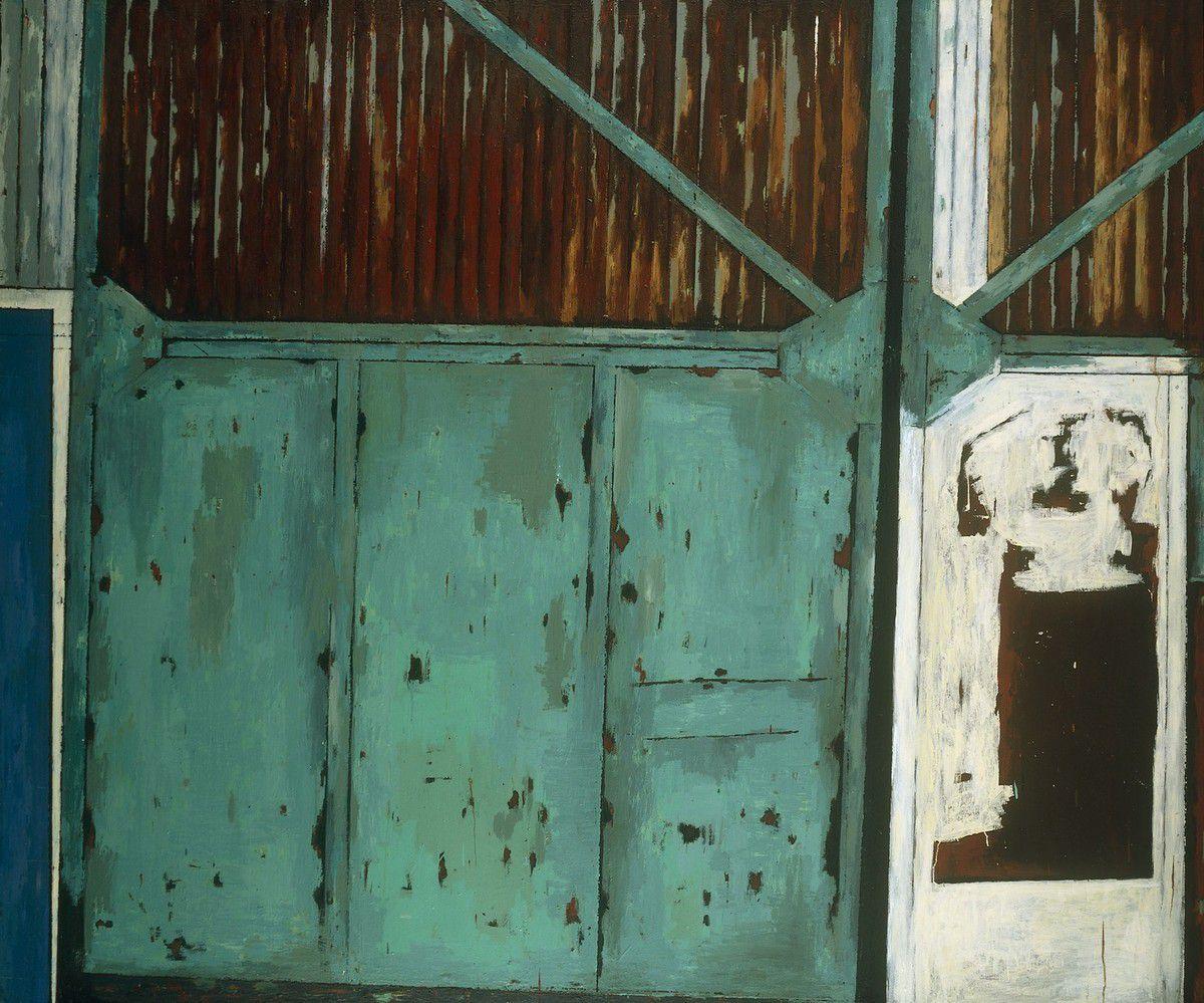 Hangar, 2004 huile et laque sur toile 200 x 240 cm