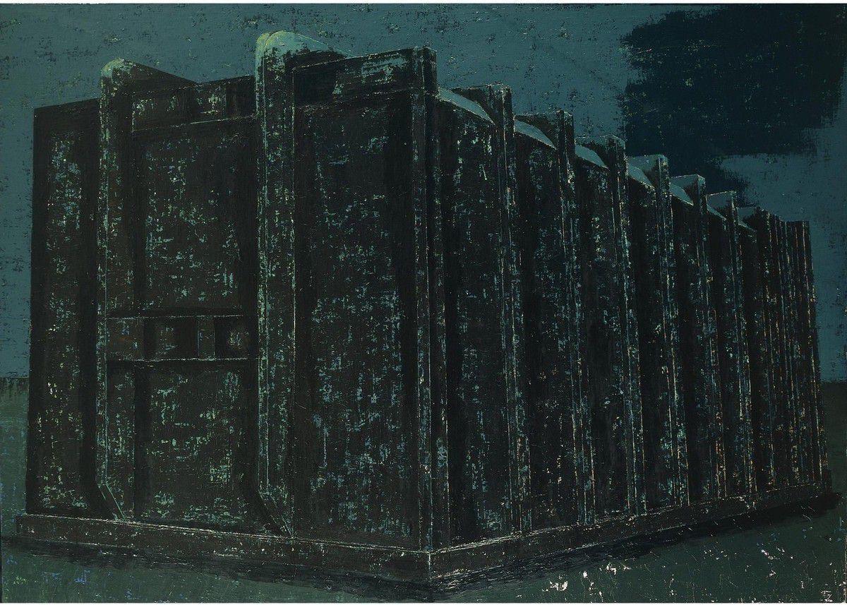 Structure n°3, 2005 huile et laque sur toile 175 x 230 cm