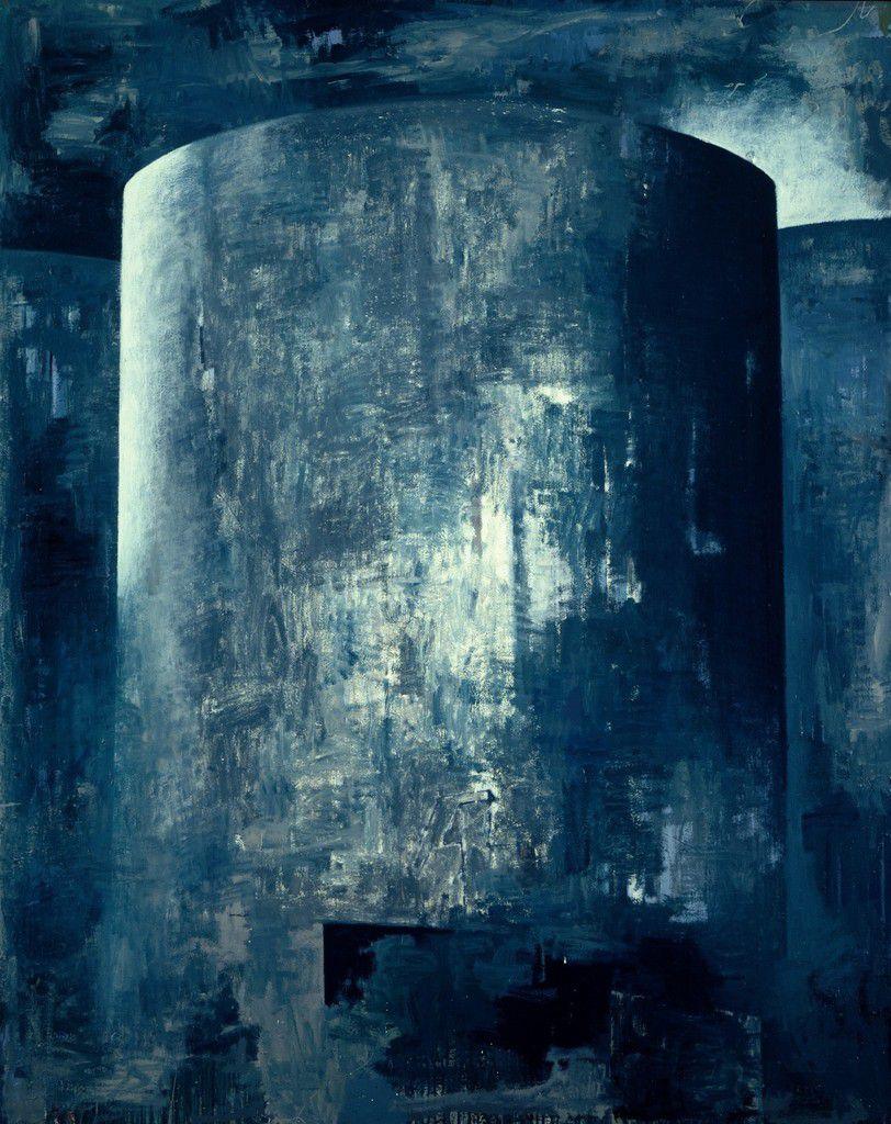 Réservoir, 2002 huile et laque toile 200 x 160 cm