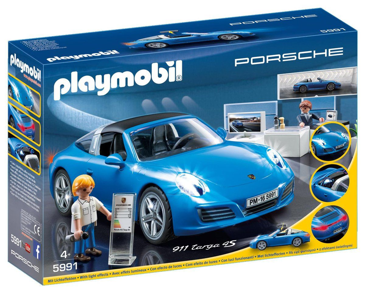 porsche playmobil 5991 porsche 911 targa 4s bleu le. Black Bedroom Furniture Sets. Home Design Ideas
