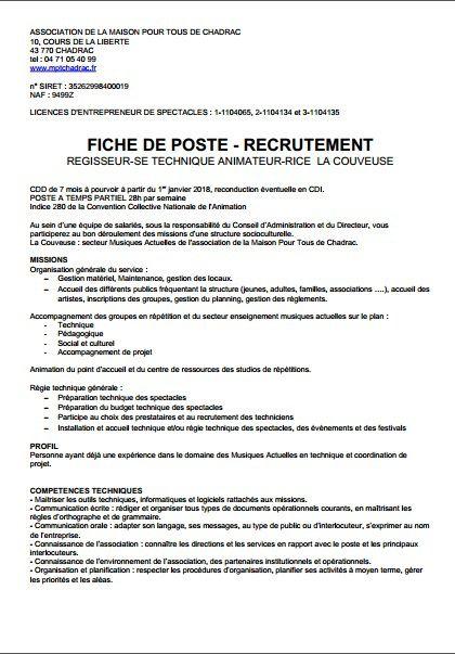 Offre D Emploi A La Couveuse Mpt Chadrac Ecp Developpement