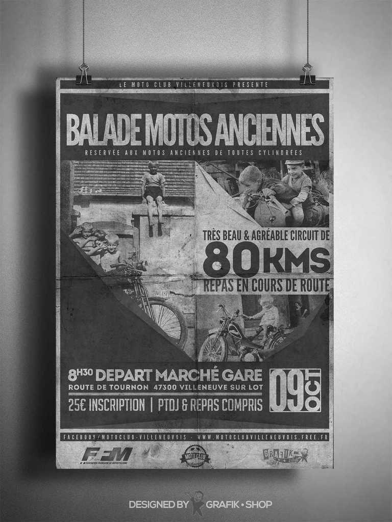 BALADE MOTOS  ANCIENNES VILLENEUVE/LOT   9 OCTOBRE