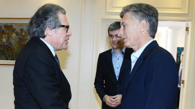Dos puntas contra Venezuela: Macri y Almagro