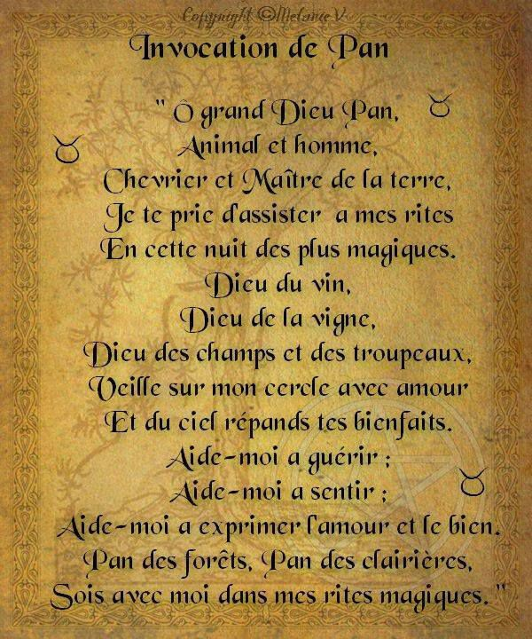 Invocation à Pan