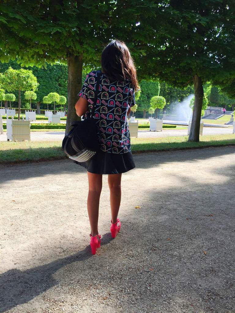 Pink plastic shoes