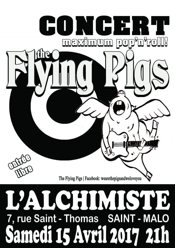 The Flying  Pigs live Avril 2017