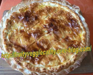 Leek pie - Fruity Veggie Cathy