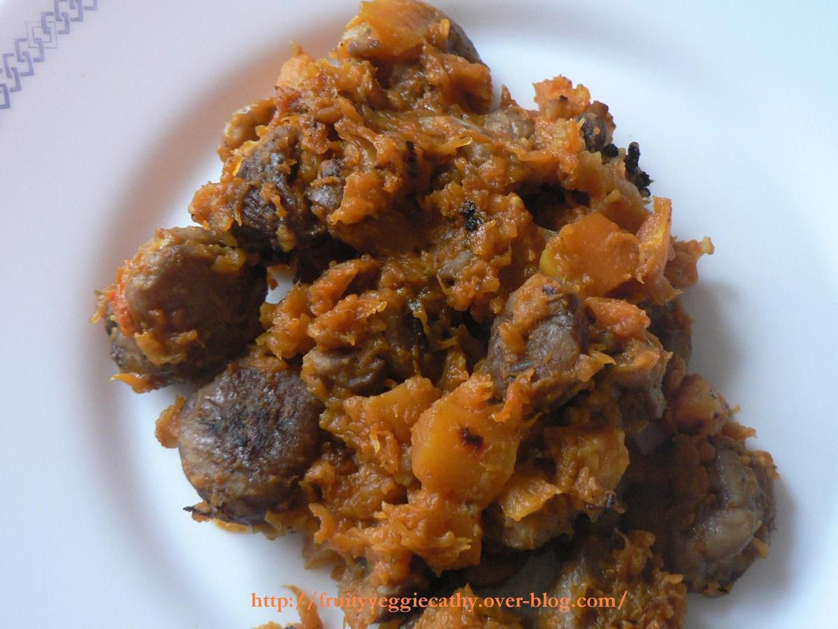 Pumpkin and chestnuts with spices for chorba - Fruity Veggie Cathy