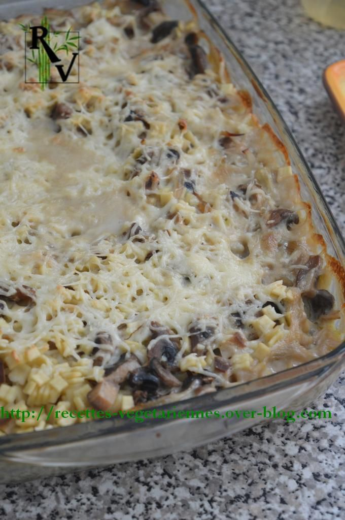Crozet bake with mushrooms and cheese - Recettes Végétariennes