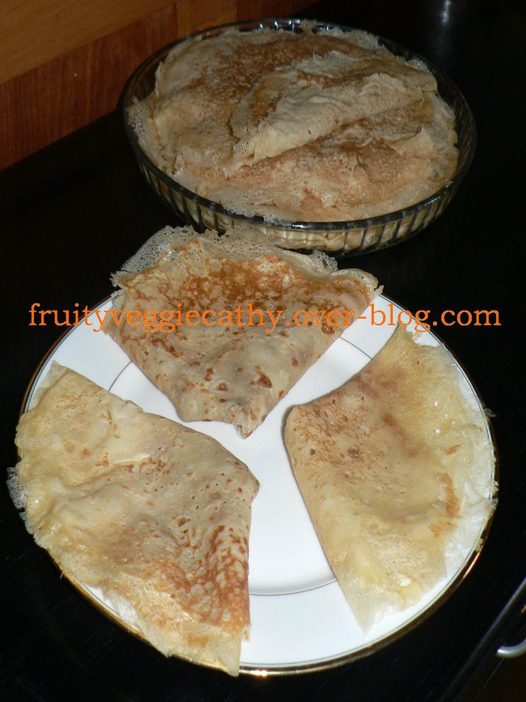 Crepes (French-style pancakes) - Fruity Veggie Cathy