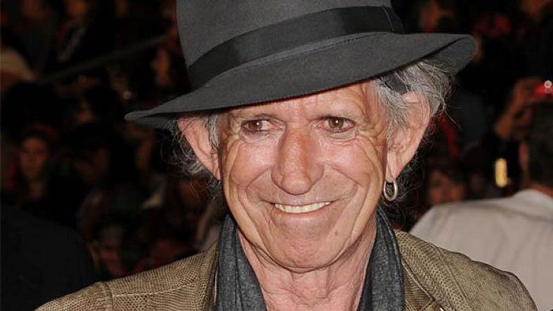 Le guitariste Keith Richards est aujourd'hui âgé de 71 ans