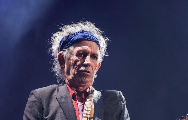 Keith Richards, le guitariste des Rolling Stones au Glastonbury Festival 2013