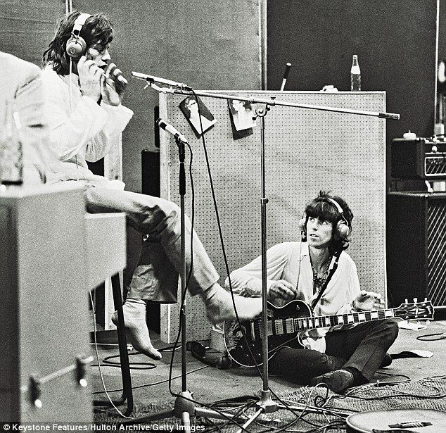 Jagger and Richards in Olympic Studios in 1968, recording Sympathy For The Devil. 'There was a great tandoori chicken place on the corner... I'd smell the whole place out with my plates of chicken tandoori,' he said