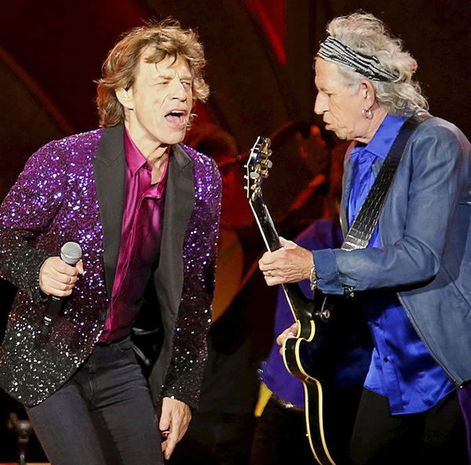 Mick Jagger and Mr. Richards in May
