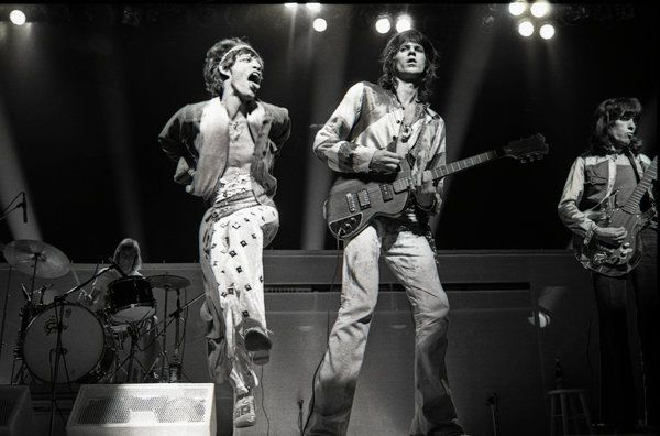 The Glimmer Twins, as they are known, in 1973