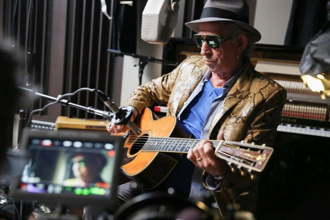 """In """"Keith Richards: Under the Influence,"""" available Friday on Netflix, the Rolling Stones guitarist discusses his career and creative process"""