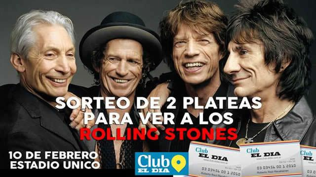 Con EL DIA podés ir a ver a los Rolling Stones
