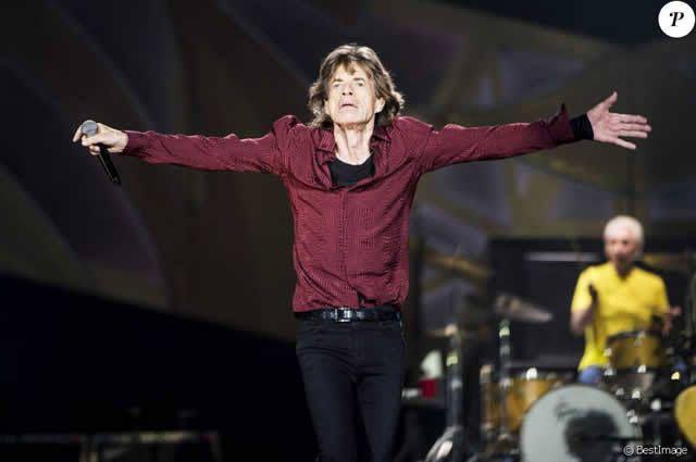 Mick Jagger - Les Rolling Stones en concert au Tele2 Arena à Stockholm. Le 1er juillet 2014