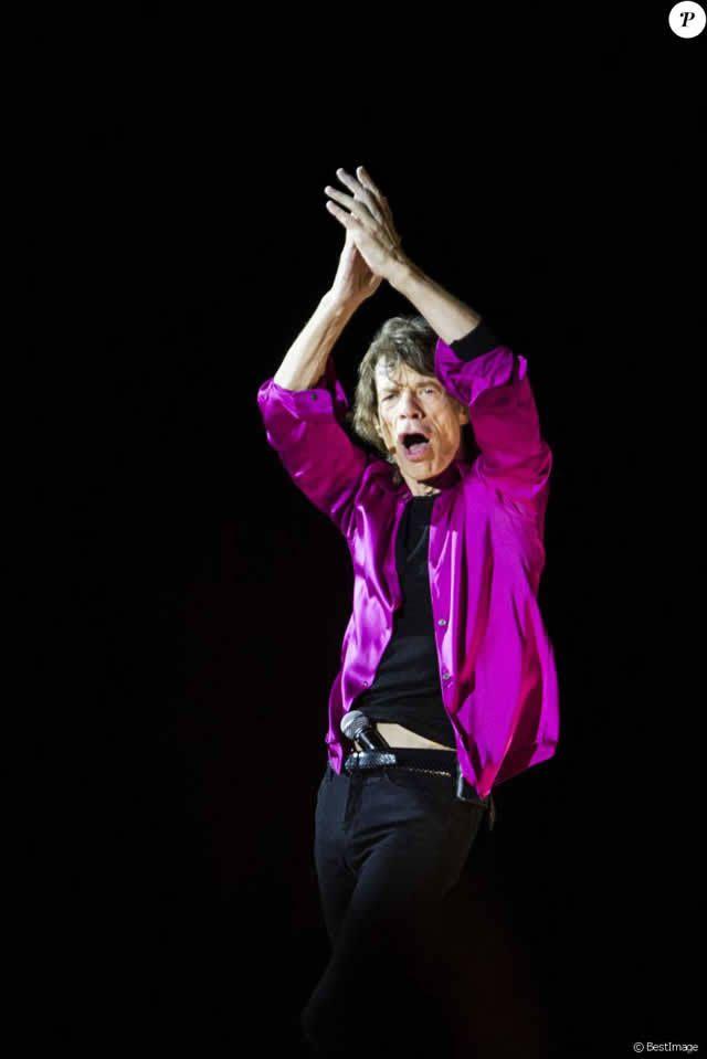 Mick Jagger - Les Rolling Stones en concert au festival Roskilde le 3 juillet 2014