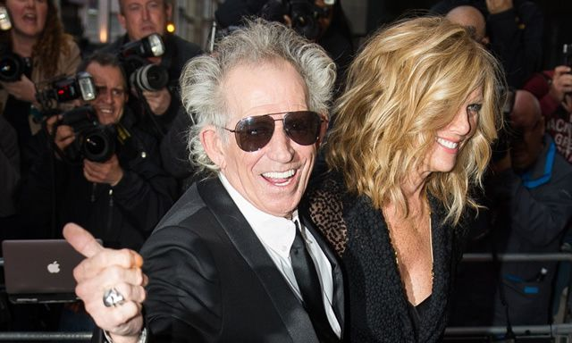 Getting up his daughters' noses: Keith Richards and Patti Hansen in London. Photograph: Samir Hussein/WireImage