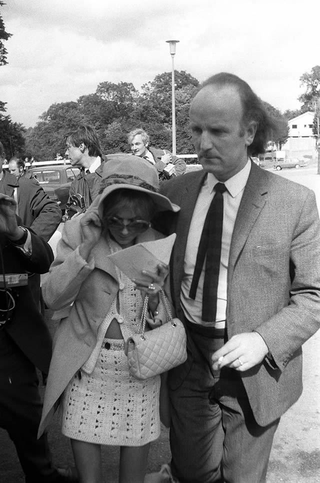 Builder Frank Thorogood comforts Anna in July 1969 as they arrive for the inquest into Jones's death