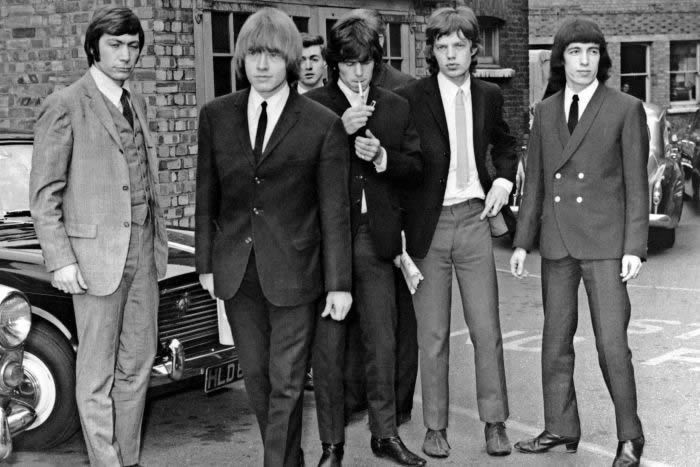 Bill Wyman (far right) with the Rolling Stones in 1965