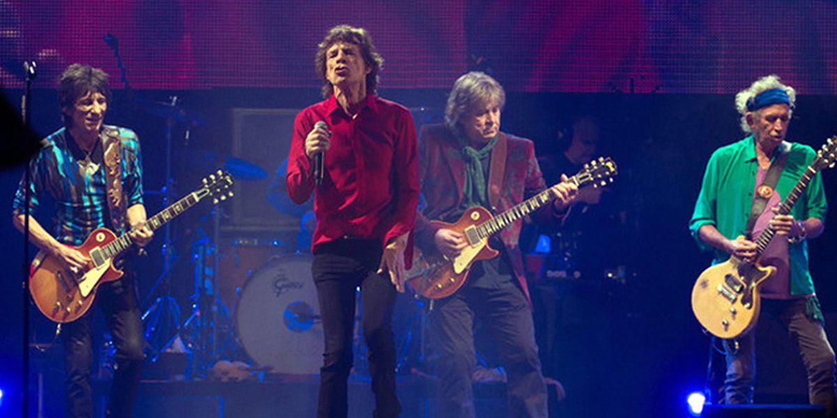 Les Rolling Stones sur scène au Glastonbury Festival (Angleterre) en 2013
