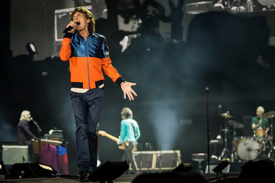 Mick Jagger of the Rolling Stones onstage on Friday during Desert Trip. Credit Carlos Gonzalez for The New York Times