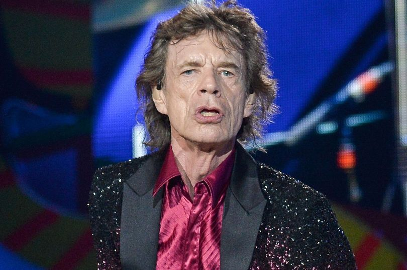 Sir Mick on stage with the Stones